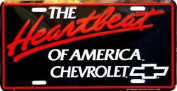 Chevy Heatbeat of America Licence Plate Chevy Heatbeat of America Licence Plate