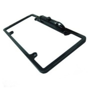 Absolute CAM2000CCDB Black Universal Licence Plate Frame with Built-in CCD Waterproof Camera with IR