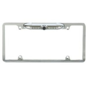 Absolute CAM1000S Universal Silver Licence Plate Frame with Built in CMOS Waterproof Camera with IR