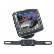 Absolute CAMPACK-36 8.9cm Slim TFT LCD Universal Mount Monitor with Licence Plate Mount Rearview Night Vision Backup Camera