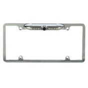 Absolute CAM2000CCDS Silver Universal Licence Plate Frame with Built-in CCD Waterproof Camera with IR