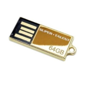 Super Talent Pico-C 64 GB Gold Limited Edition USB 2.0 Flash Drive, Rugged and Water Resistant