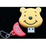 8GB Winnie the Pooh Shaped Cute Cartoon USB Flash Drives, Data Storage Device, USB Memory Stick Pen, Thumb Drive