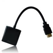 eFuture(TM) HDMI Input To VGA Adapter Converter For PC Laptop NoteBook HD DVD -Black +eFuture's nice Keyring