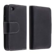 Importer520 Black Leather Case w/ Credit Card Wallet iPhone 4 / 4s (AT & T, Verizon, Sprint)