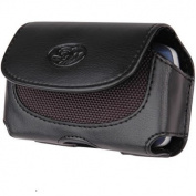 LG VU CU920 Black Horizontal Premium Leather Pouch Case With Belt Clip And Belt Loops ...Plus FREE Neck Strap / Lanyard!!!