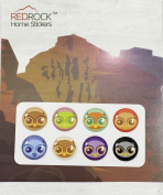 Cute Owls 8 Pieces Home Button Stickers for iPhone 5 4/4s 3GS 3G, iPad 2, iPad Mini, iPod Touch