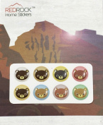 Colourful Bear Designs 8 Pieces Home Button Stickers for iPhone 5 4/4s 3GS 3G, iPad 2, iPad Mini, iPod Touch