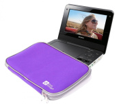 DURAGADGET Purple Durable & Lightweight Portable DVD Player Carry Sleeve For Sony DVP-FX970, DVP-FX720