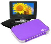 DURAGADGET Durable & Lightweight Purple Dual Zip Portable DVD Player Carry-Case For Xoro HSD 7790