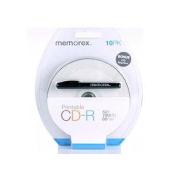 Memorex CD-R80 10 PACK BLISTER PRINTABLE Features Ink Jet Printable Surface Printable Inner Hub