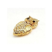 8GB Crystal Gold Coloured Owl Style USB Flash Drive with necklace