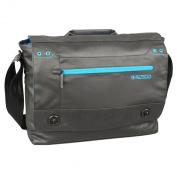 Altego Coated Canvas Cyan 38cm Laptop Messenger Bag - Black
