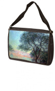 Antibes Seen From La Salis By Claude Monet Laptop - Messenger Bag