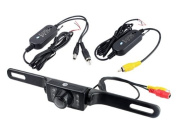 2.4g Wireless Car Licence Mount Rear View Backup Camera 7 Ir LED Night Vision with Transmitter & Receiver