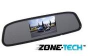 Zone Tech 11cm TFT Car Auto LCD Screen Rear Monitor View Rearview DVD AV Mirror