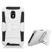 AI Rhino Kickstand Double Layer Rhino Hard Hybrid Gel Case With Holster Cover For for Samsung Galaxy S2 Epic Touch D710 - Black and White