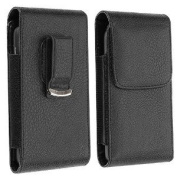 Premium Vertical Leather Swivel Belt Clip Case Pouch Cover With Magnetic Flap for Samsung Galaxy S3 / S III
