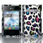 [Extra-Terrestrial]For LG Optimus Logic L35g / Dynamic L38c (StraightTalk/Net 10) Rubberized Design Cover - Colourful Leopard