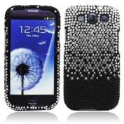 AI Black Splash Rhinestone Bling Hard Case Snap On Cover For for Samsung Galaxy S3 i9300