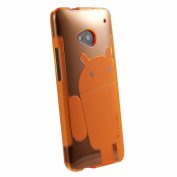 Orange Cruzerlite Androidified A2 TPU Case For HTC One