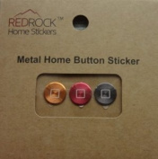 Classic Square Gold Red Grey 3 Pieces Aluminium Metal Home Button Stickers for iPhone 5 4/4s 3GS 3G, iPad 2, iPad Mini, iPod Touch