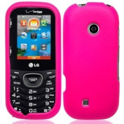 Pink Hard Case Cover for LG Cosmos 3 VN251S +Pen Stylus