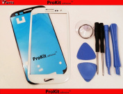ProKit for Samsung Galaxy Marble White Replacement Screen Glass Lens Kit S3 i9300 I747 T999