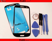 ProKit for Samsung Galaxy S3 Screen Glass Lens repair Kit Black for Samsung Galaxy S3 i9300 I747 T999 by Iparts Outlet