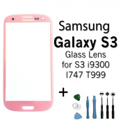 Samsung Galaxy S3 SIII Lens Repair Kit in Pink for Samsung Galaxy S3 i9300 I747 T999 + Toolkit