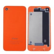 Back Cover Housing Replacement Glass Battery Door for AT & T/T-Mobile iPhone 4 GSM-Orange