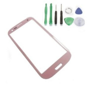 Generic Screen Glass Lens for Samsung Galaxy SIII S 3 i9300 Pink + Free Tools