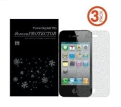 PowerDigital(TM) Diamond Sparkling Glitter Screen Protector for iPhone 5 5G LTE with Lint Cleaning Cloth (Retail Packaging) - 3 Pack