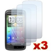 3 Premium Crystal Clear LCD Screen Protectors for HTC Sensation 4G/Pyramid