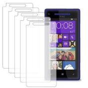 MPERO 5 Pack of Clear Screen Protectors for HTC Windows Phone 8X