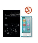 PowerDigital(TM) iPod Nano 7 Screen Protector (Matte Anti-Glare, Anti FingerPrint, 3 Pack), iPod Nano 7th Gen / 7th Generation