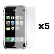 5 Pack Premium Crystal Clear LCD Screen Protector Apple iPhone 4, 4G