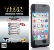 TITAN Anti-Breakage Anti-Scratch Screen Protector for iPhone 4/4S - Frustration-Free Packaging - Clear
