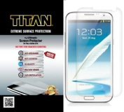 TITAN Anti-Breakage Anti-Scratch Screen Protector for for for for for for for for for for for Samsung Galaxy Note II - Frustration-Free Packaging - Clear