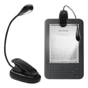 CostMad Clip-on LED Reading Light Lamp Flexible Arm for All Amazon Kindles, Reading Books, eReaders, Tablet, iPad, Kobo, Laptops, Map, Music Stands etc