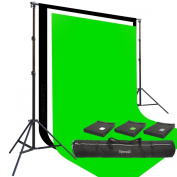 Three Prism 3m x 6.1m 100% Cotton Muslin Backdrops and The Ravelli Full Size 3m x 6.1m Background Stand Set