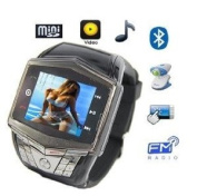 Keenan®new Version Ultra-thin Quad-band Watch Mobile Phone Fm/mp3/mp4 2m Camera+2gb Memory Card+bluetooth Headset