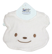 Animal Pals Bear Bib in White