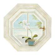 Mural Portfolio II Trompe L'oiel Octagon Window Accent Wall Sticker