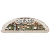 Mural Portfolio II Arched Display Nook Country Bath Trompe L'Oiel Accent Wall Sticker