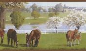 Mural Portfolio II Horse Farm with White Fences Border