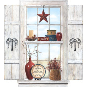 Mural Portfolio II Trompe L'Oiel Country Folk Art Window Wall Sticker