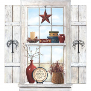 Mural Portfolio II Trompe L'Oiel Country Folk Art Window Wall Sticker