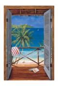 Mural Portfolio II Trompe L'Oiel Tropical Doors Accent Wall Sticker