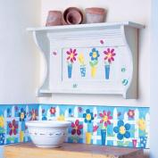 Silly Flower Pots Wallpaper Cutouts